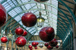 Christmas deorations in Covent Garden in London