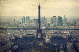 Wieża Eiffla - vintage zdjęcie - 112471823