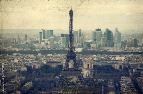 Recess Fitting Artistic monument Eiffel tower - vintage photo