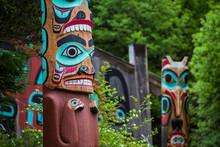 Totem Poles Near Saxman Tribal...