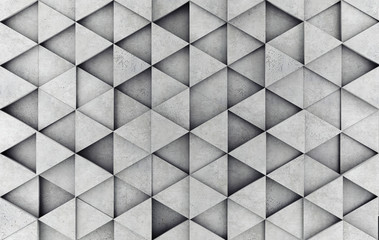 Fototapeta Concrete prism as a background. 3D rendering