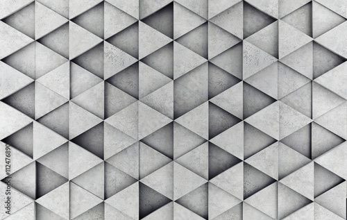 Foto op Aluminium Betonbehang Concrete prism as a background. 3D rendering
