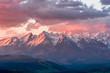 Leinwandbild Motiv Beautiful spring panorama over Spisz highland to snowy Tatra mountains in the morning, Poland