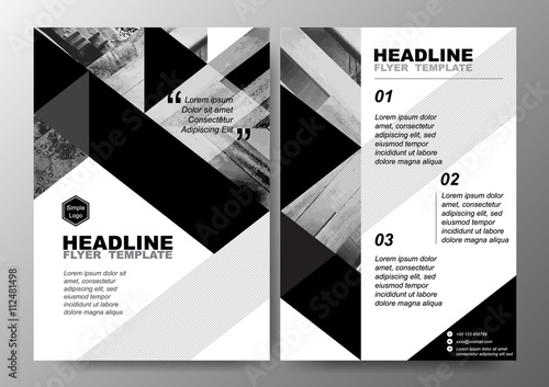 Abstract Black White Triangle Background For Minimal Poster Brochure