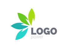 Green Leaf Logo Design. Four L...