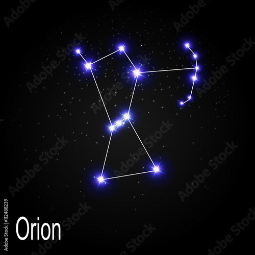 Orion Constellation with Beautiful Bright Stars on the Backgroun Wallpaper Mural