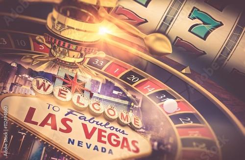 Poster  Las Vegas Glücksspiel-Konzept