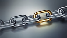 Metal Chain With Golden Element
