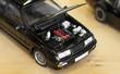 Miniature car model in the shop.