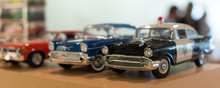 Miniature Car Models In The Shop.