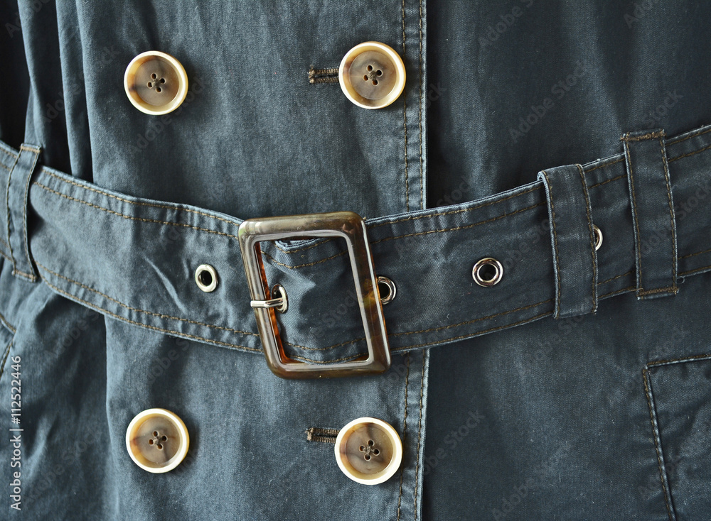 Photo & Art Print Trenchcoat / Jeansoptik / Zweireiher / Gürtel mit ...