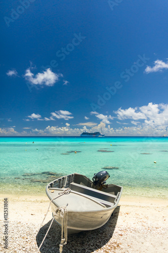 Paradise view of Rangiroa atoll, French Polynesia Poster