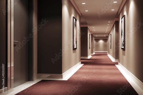Fotografie, Obraz Hotel Walkway III