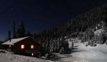 Refuge De Montagne La Nuit En ...