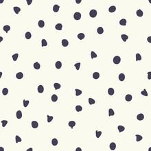 Chocolate Chip Polka Dots Vector Seamless Pattern