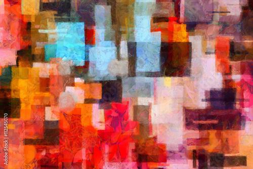Zdjęcie XXL Kolorowe abstrakcyjne malarstwo w stylu artystycznym