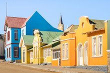 Colorful Houses In Luderitz - ...