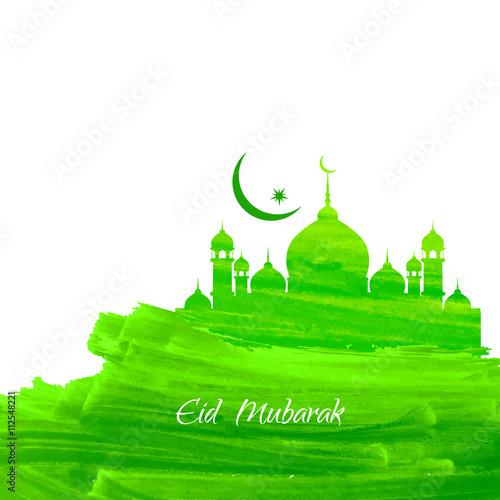 Foto op Plexiglas Groene Green color Eid mubarak background