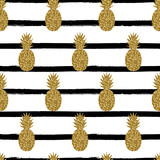 Seamless Pineapples Pattern - 112549007