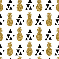 Fototapeta Seamless Pineapples Pattern