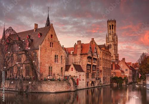 Wall Murals Bridges Bruges, Belgium.