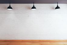 Blank Brick Wall In Room