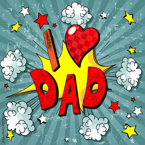 Foto op Canvas Sprookjeswereld Father Day Background