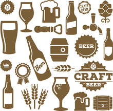 Vector-Icon Set Beer Icons
