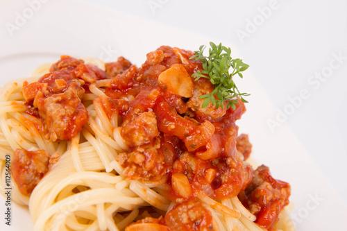Fototapety, obrazy: Spaghetti bolognese on a plate