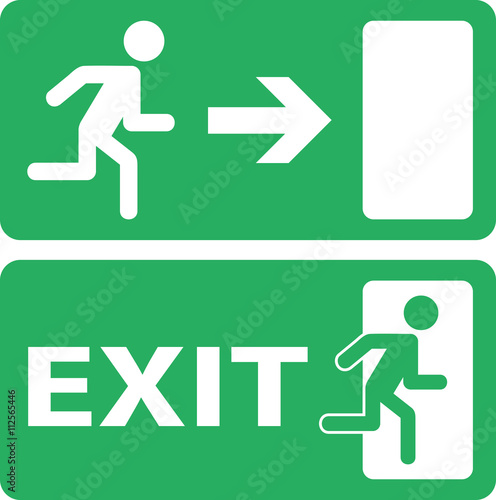 exit icon Wall mural
