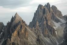 Dolomites Mountain Cliffs