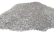Big Pile Of Crushed Stones Isolated On White Background