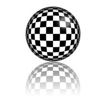 Checkered Flag Sphere 3D Rende...