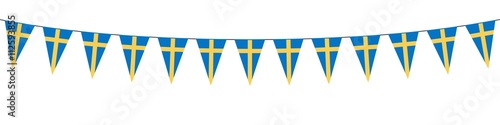 Fotografía  Banner. Garland. Blue, Yellow. Sweden