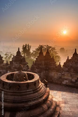 Foto op Aluminium Indonesië Borobudur Temple, Yogyakarta, Java, Indonesia.