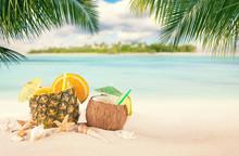 Sandy Tropical Beach With Summ...