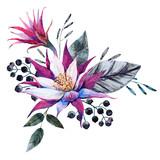 Watercolor tropical composition - 112601638