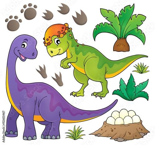 Acrylic Prints Dinosaurs Dinosaur topic set 5