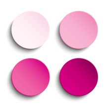 Pink Circle Empty Banner On White Background.