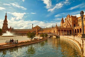 Španjolski trg (Plaza de Espana). Sevilla, Španjolska.
