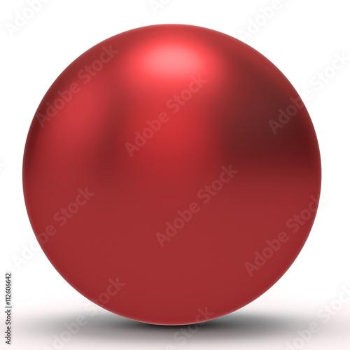 In de dag Bol 3d red sphere