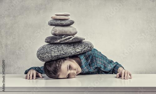 Fotografía Tired girl under pressure