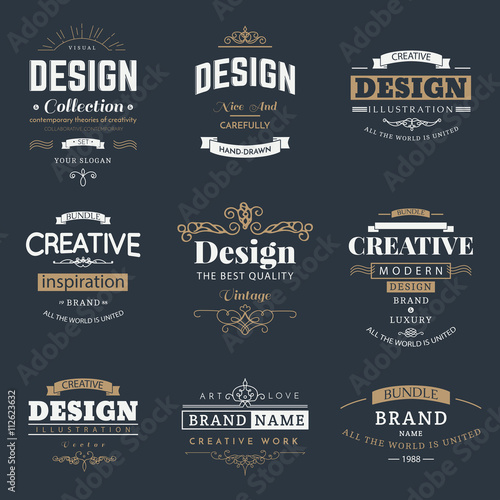 Retro creative vintage labels template and logo set vector design retro creative vintage labels template and logo set vector design elements business signs branding wajeb Image collections
