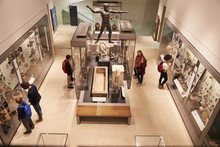Overhead View Of Busy Museum I...