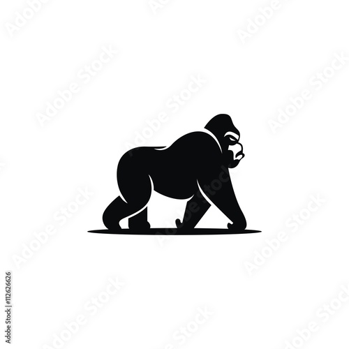Photo  gorilla logo vector