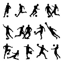 Soccer Player Vector Silhouettes