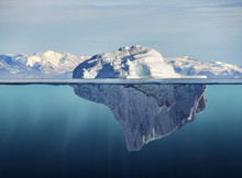 Iceberg With Above And Underwa...