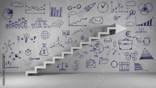 Fotografia  Plan für Erfolg und Wachstum