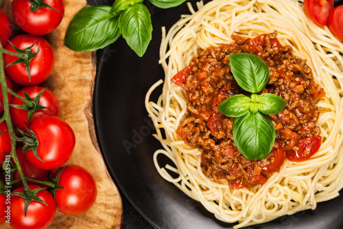 Photo  Traditional spaghetti bolognese