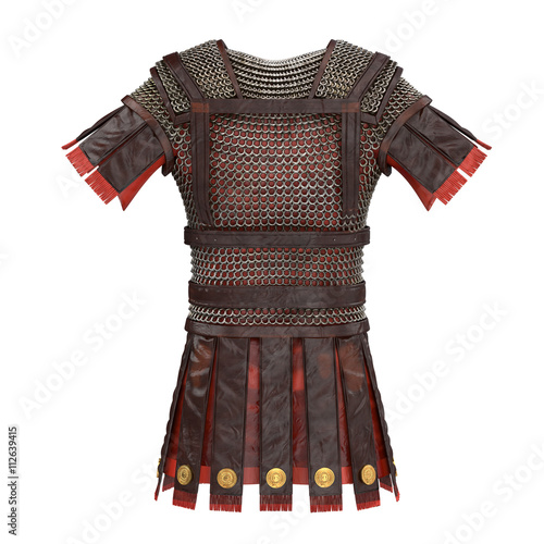 Photo Roman armor 3d illustration